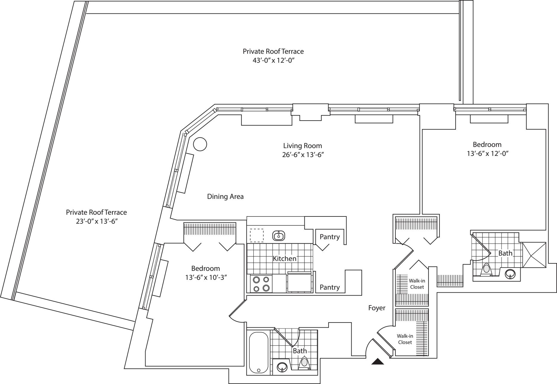 Residence B, floor 18