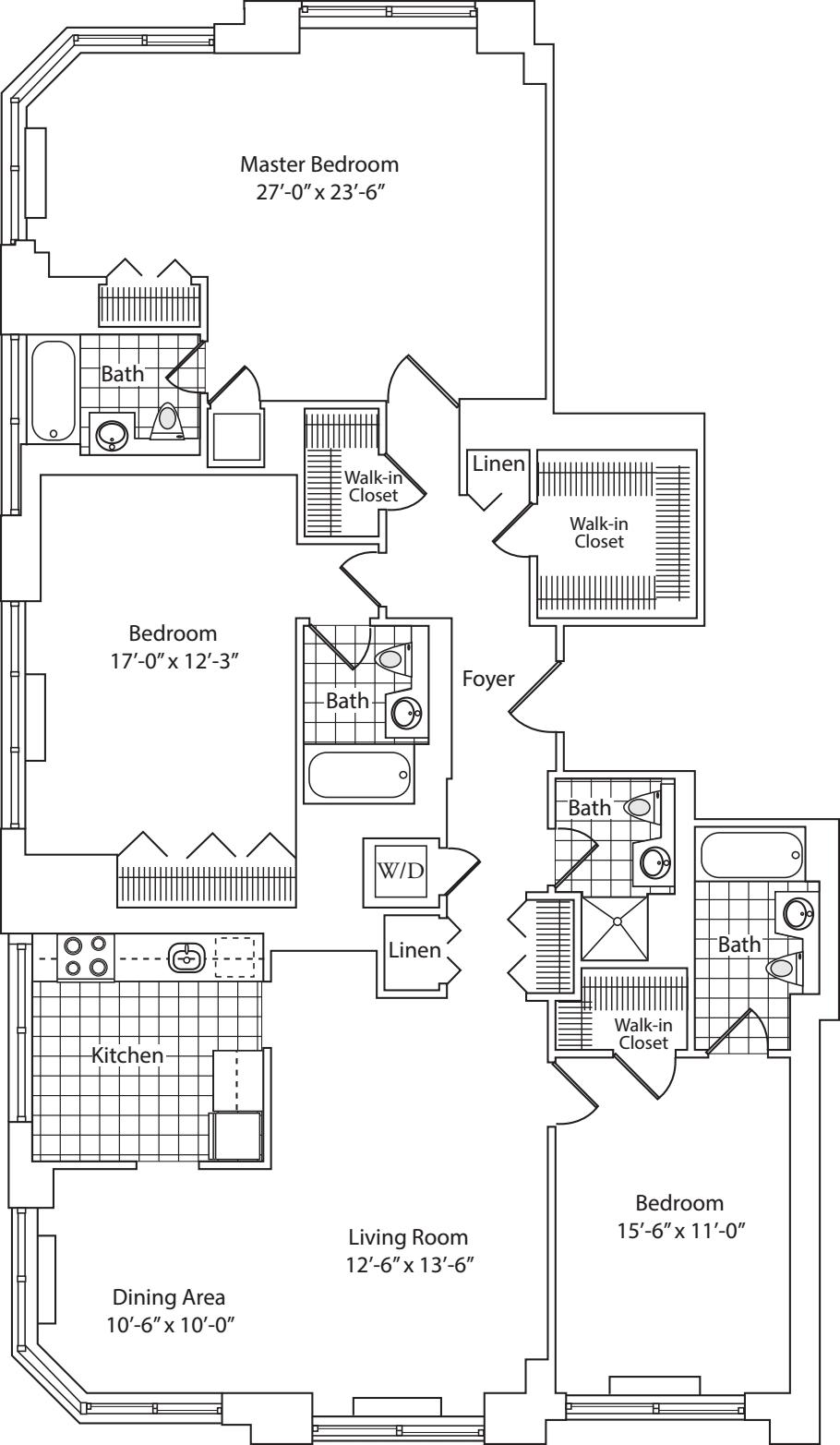 Residence A/B floors 22, 26, 27, 31, 33