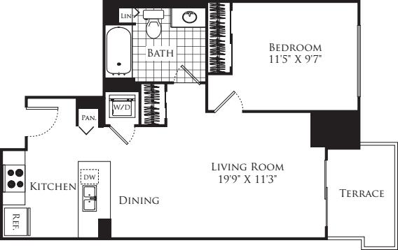1 Bedroom FP 12