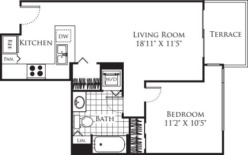1 Bedroom FP 16