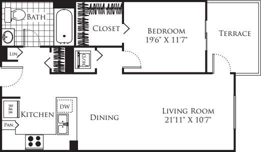 1 Bedroom FP 18