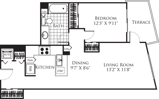 1 Bedroom FP 19