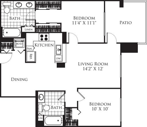 2 Bedroom FP 04