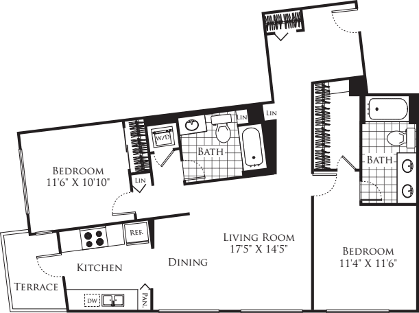 2 Bedroom FP 14