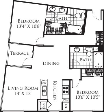 2 Bedroom FP 15