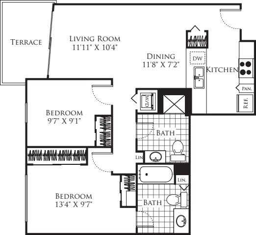 2 Bedroom FP 21