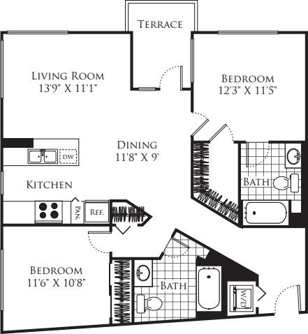 2 Bedroom FP 26