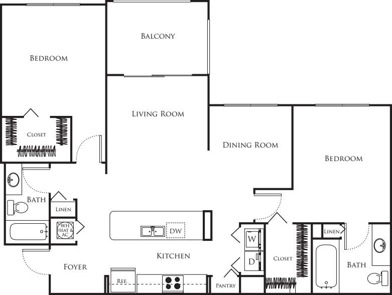 Two Bedroom F
