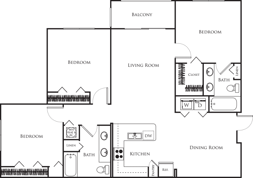 Three Bedroom A