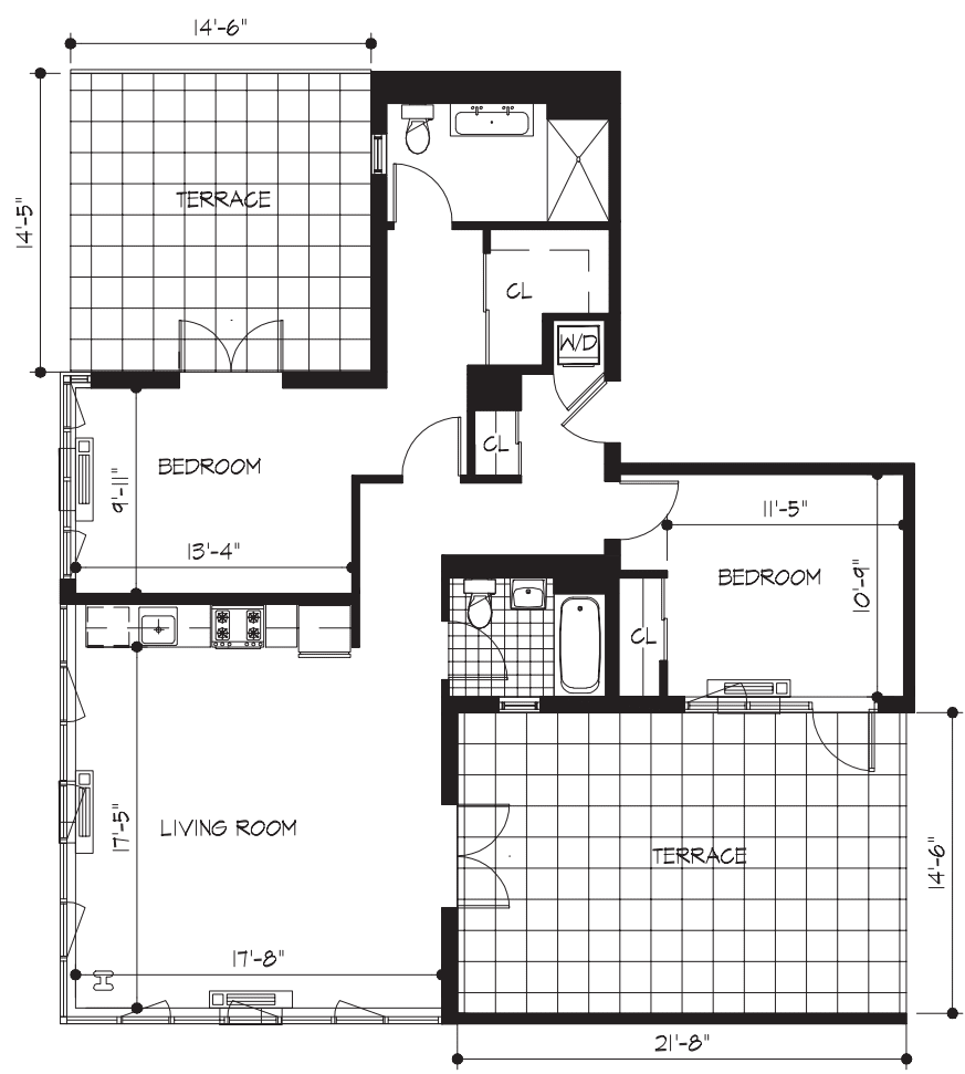 2A Penthouse with 2 Terraces