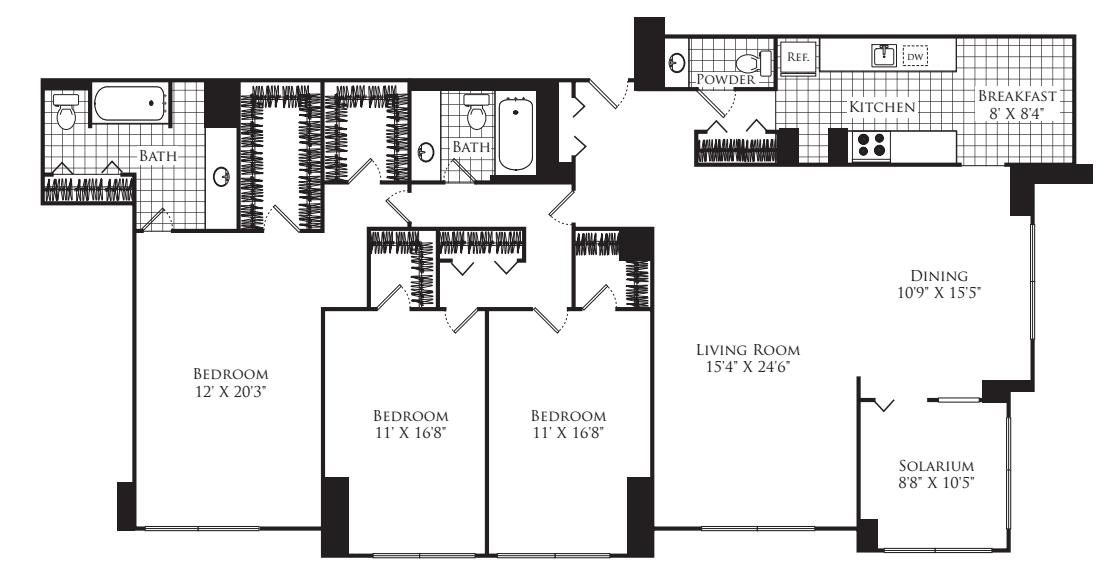 3 Bedroom C with Solarium