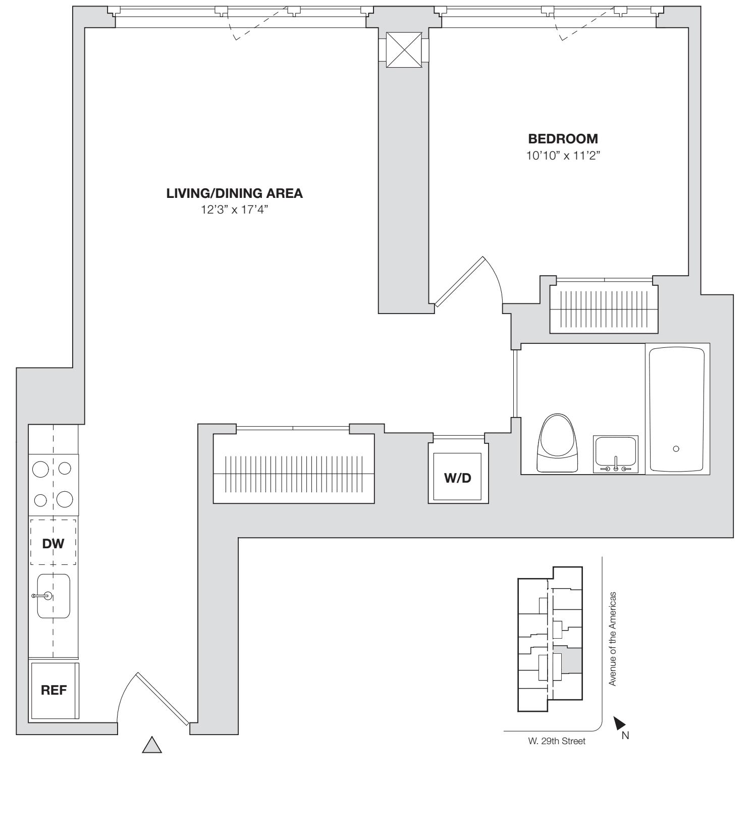 1 Bedroom I.2