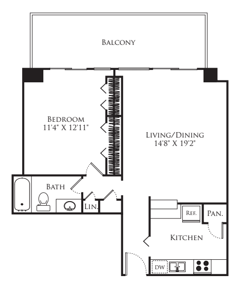 1 Bedroom Tower