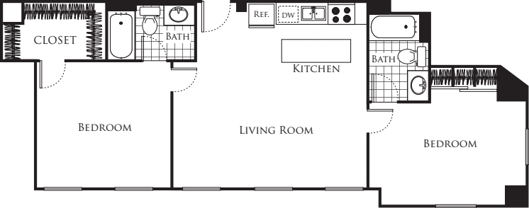 Two Bedroom F4