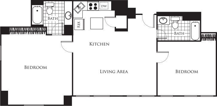 Two Bedroom F3