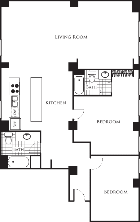 Two Bedroom F1