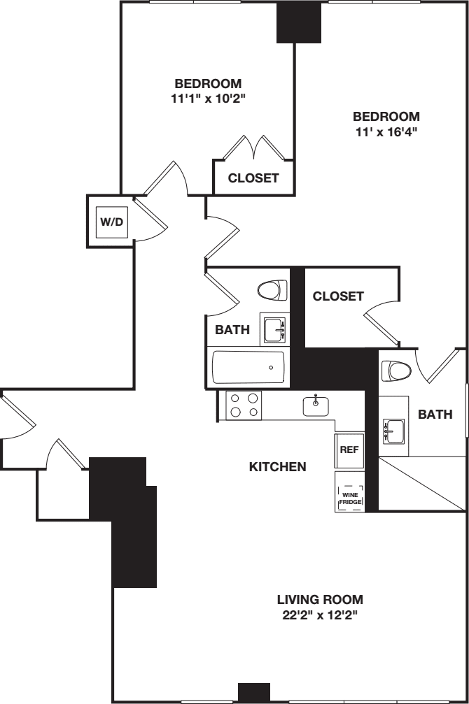 Two Bedroom D/E