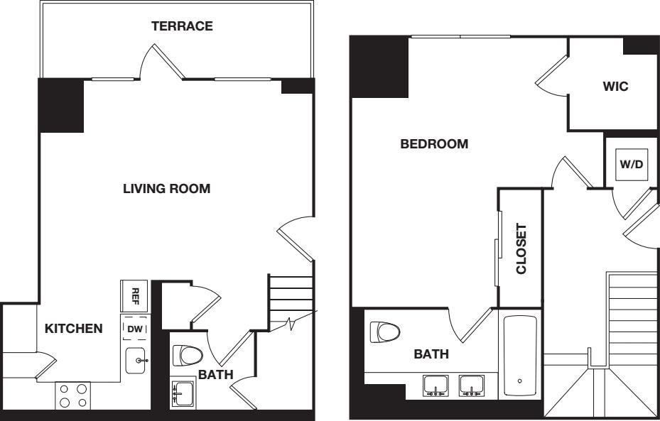 One Bedroom 2C