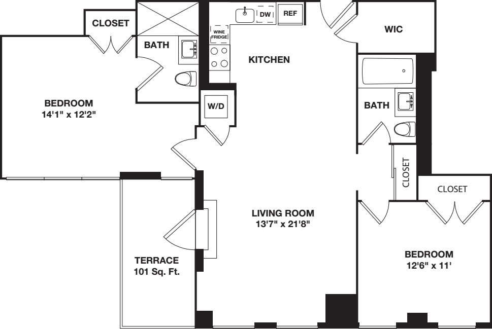 Two Bedroom 11G