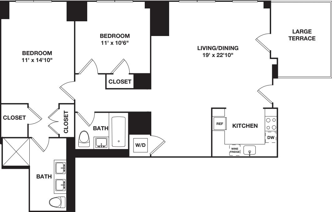 Two Bedroom 10B