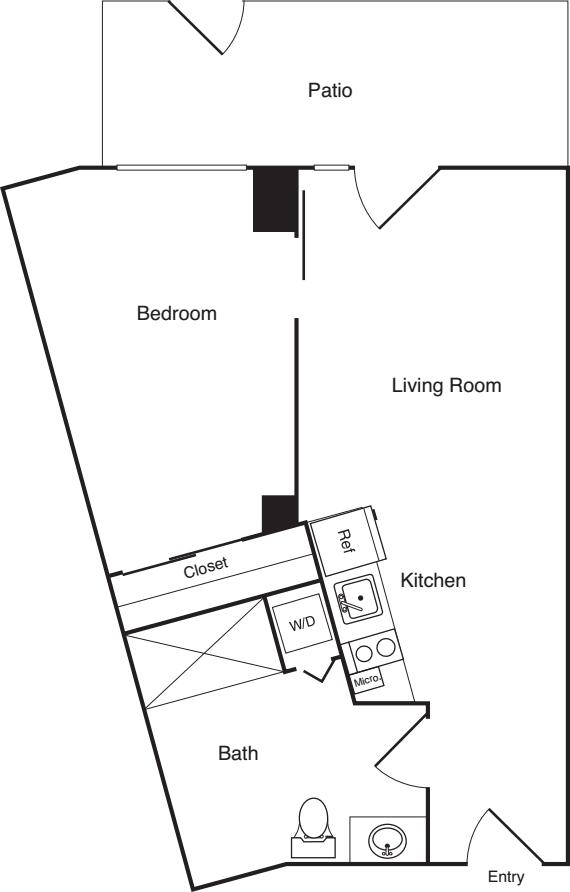 1 Bedroom E - Unit A