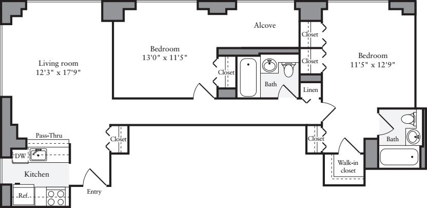 2 Bedroom E1