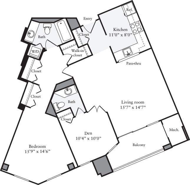 2 Bedrooms R