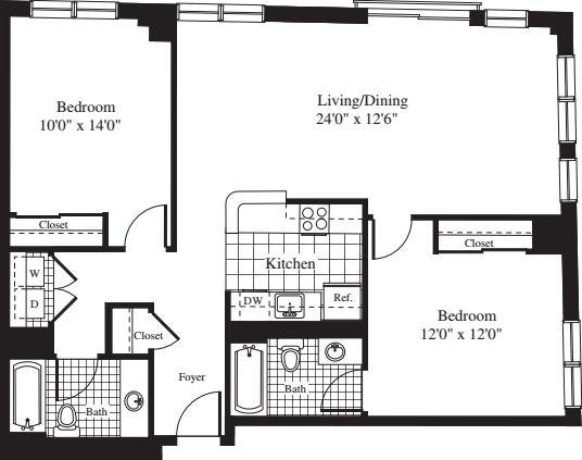 2 Bedrooms N