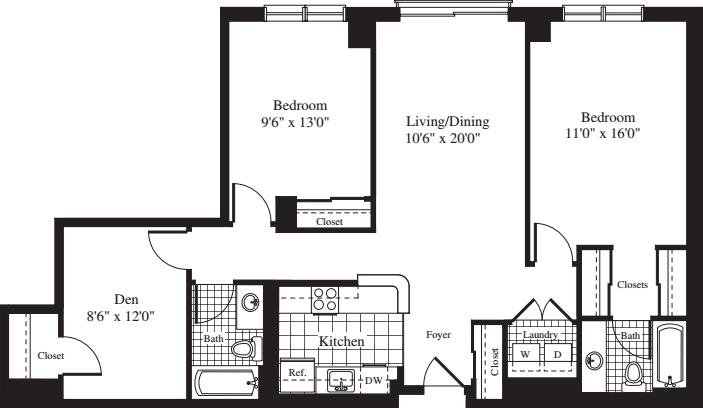 2 Bedrooms T