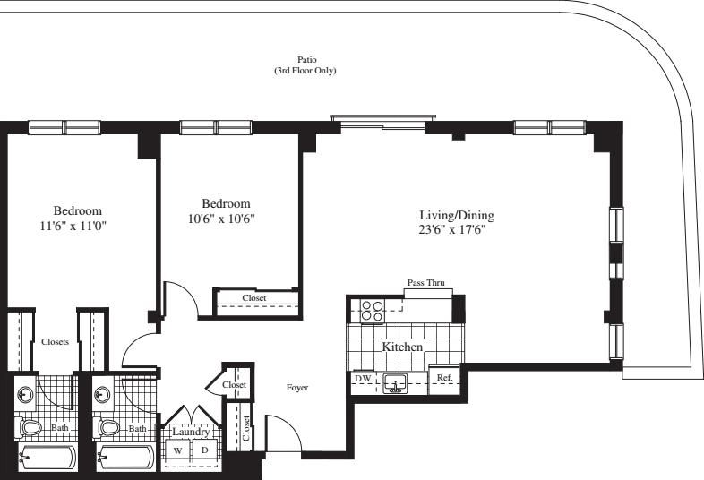 2 Bedrooms DD