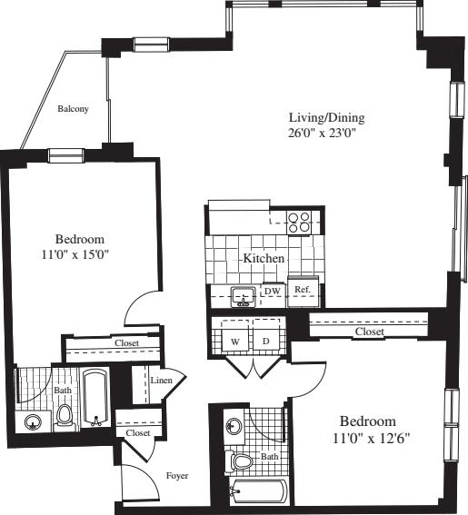 2 Bedrooms EE