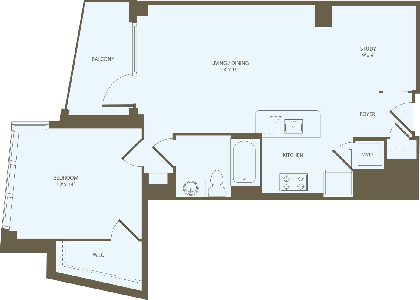 1 Bedroom V2
