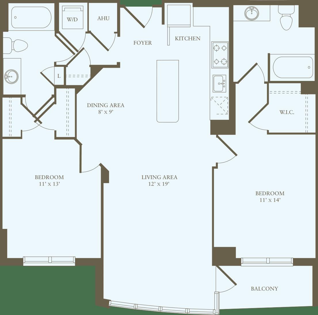 2 Bedrooms M
