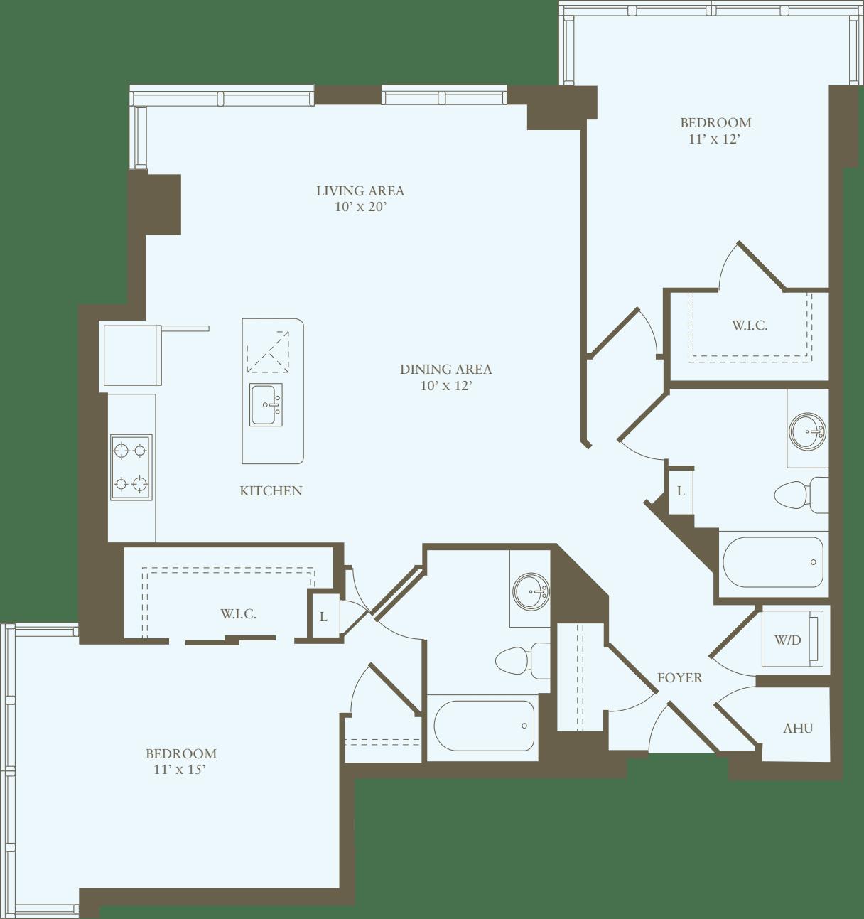 2 Bedrooms FF
