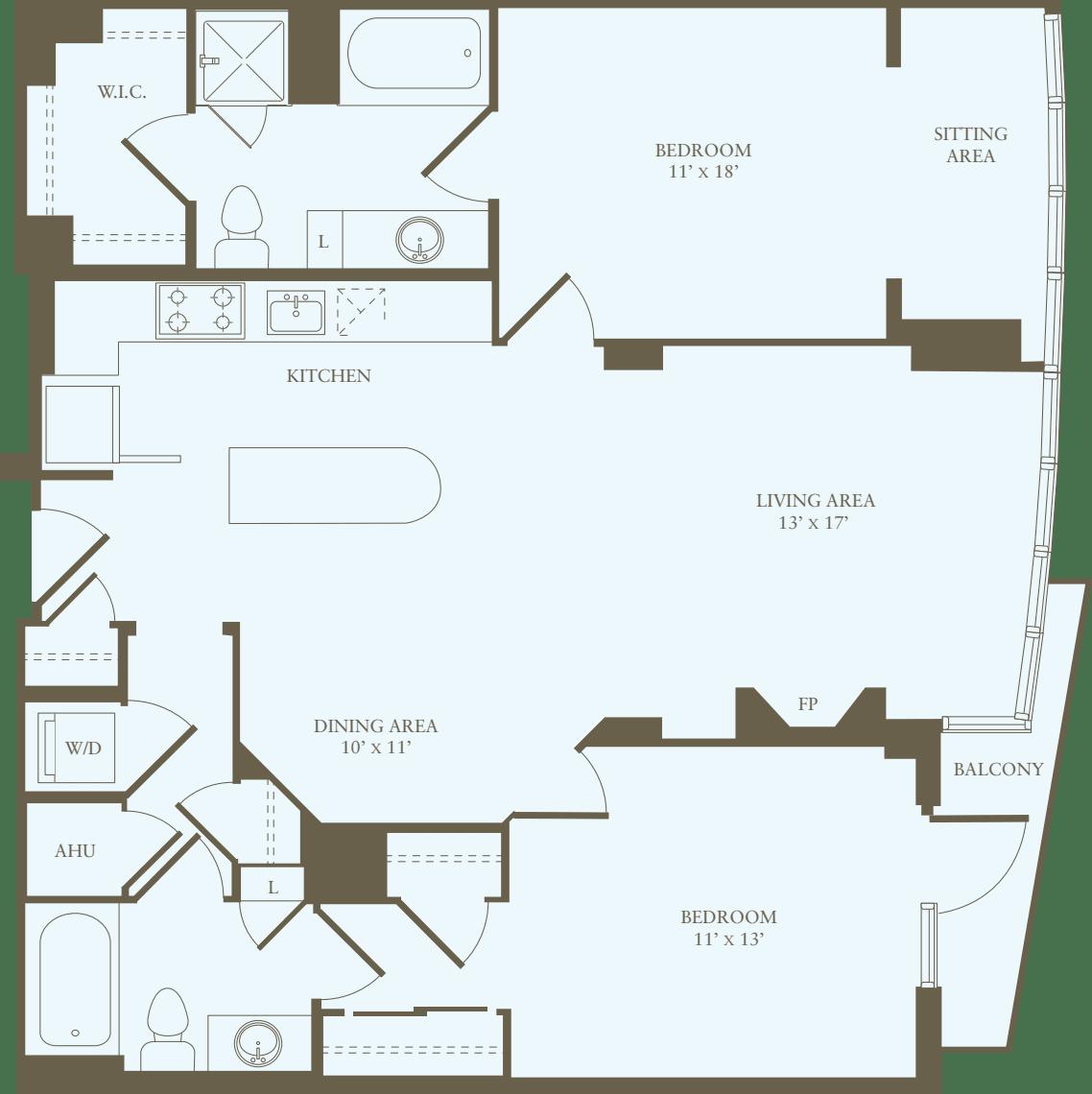 2 Bedrooms II