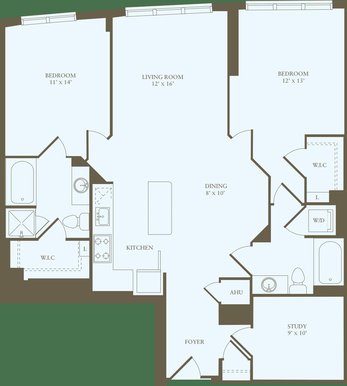2 Bedrooms PP