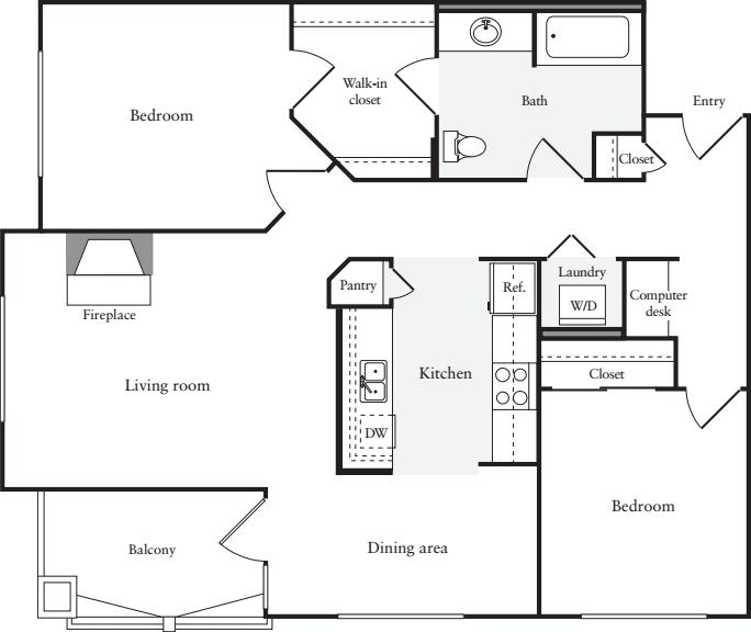 2 Bedrooms A