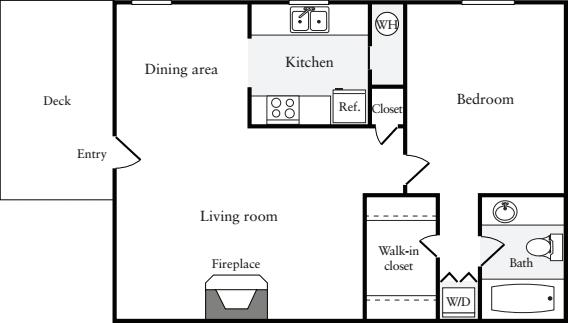 1 Bedroom D (HS)