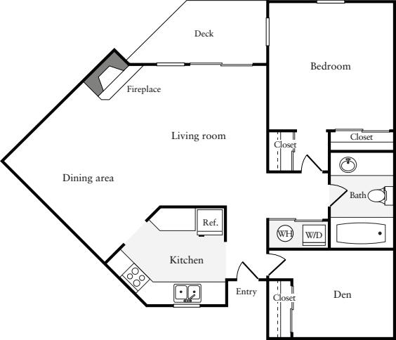 1 Bedroom F (HS)
