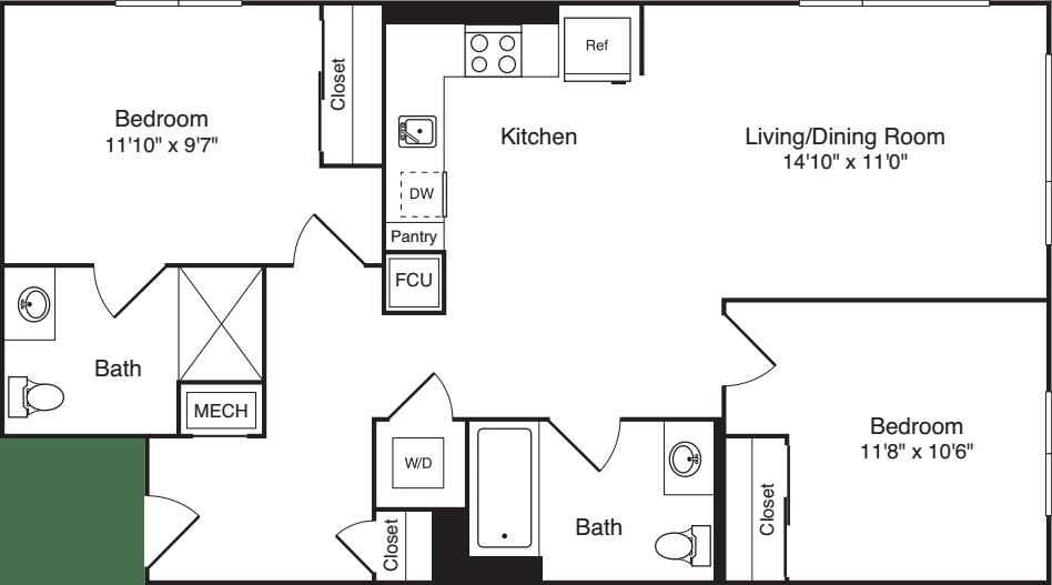 The Flats 2 Bedrooms A