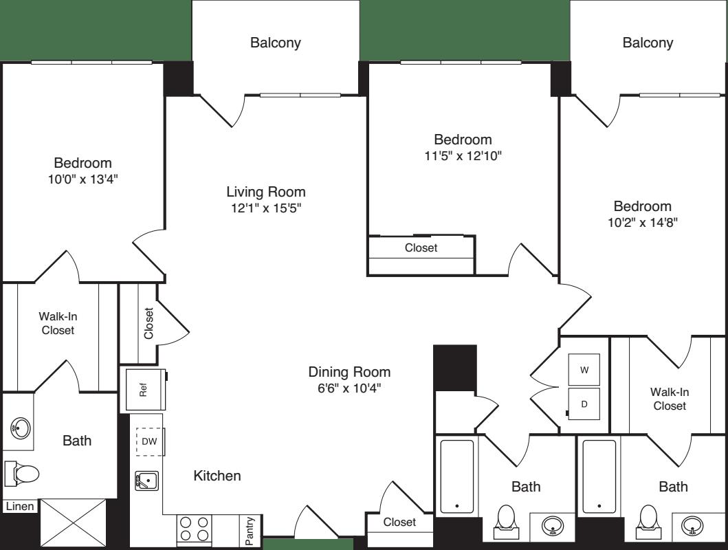 The Flats 3 Bedrooms A2