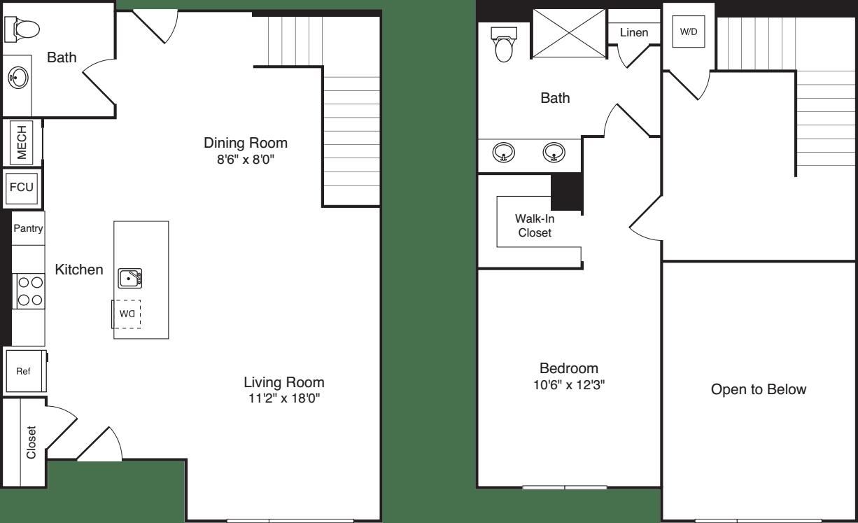 The Flats 1 Bedroom BC Loft