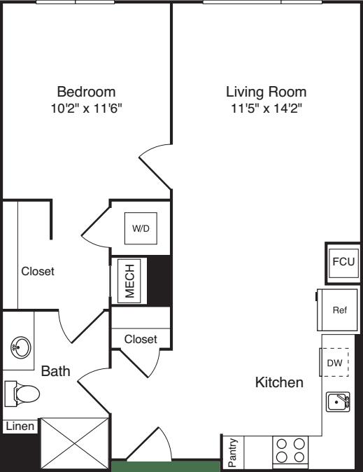 The Flats 1 Bedroom E