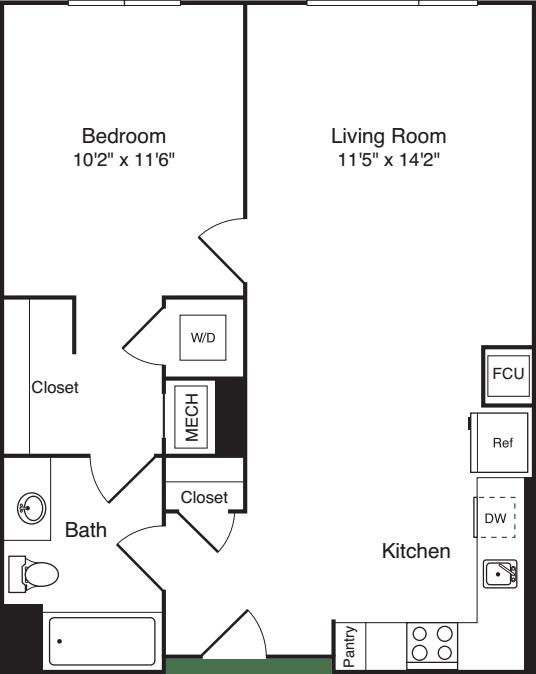 The Flats 1 Bedroom E2