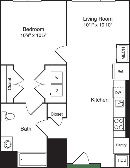 The Flats 1 Bedroom E3