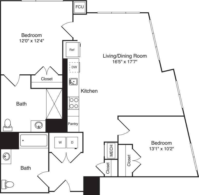 The Flats 2 Bedrooms G2