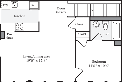 The Lofts 1 Bedroom B