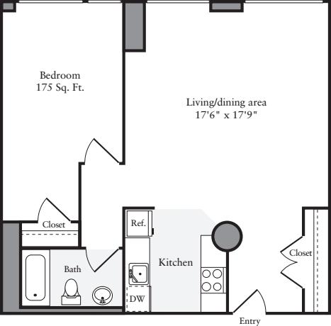 The Lofts 1 Bedroom F
