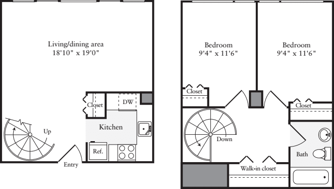 The Lofts 2 Bedrooms B