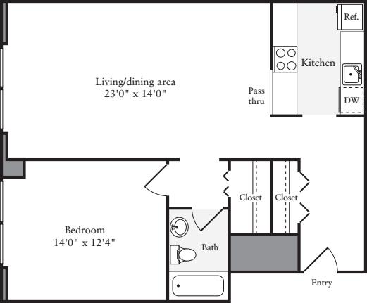 The Lofts 1 Bedroom G